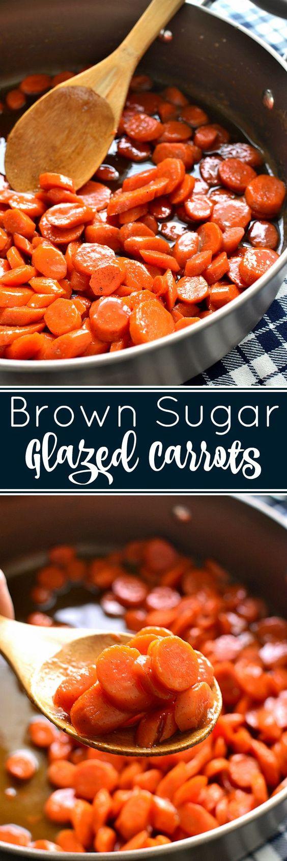 Brown Sugar-Glazed Carrots.