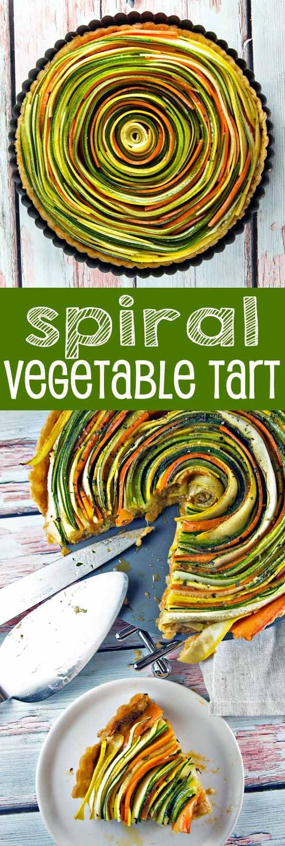 Spiral Vegetable Tart.