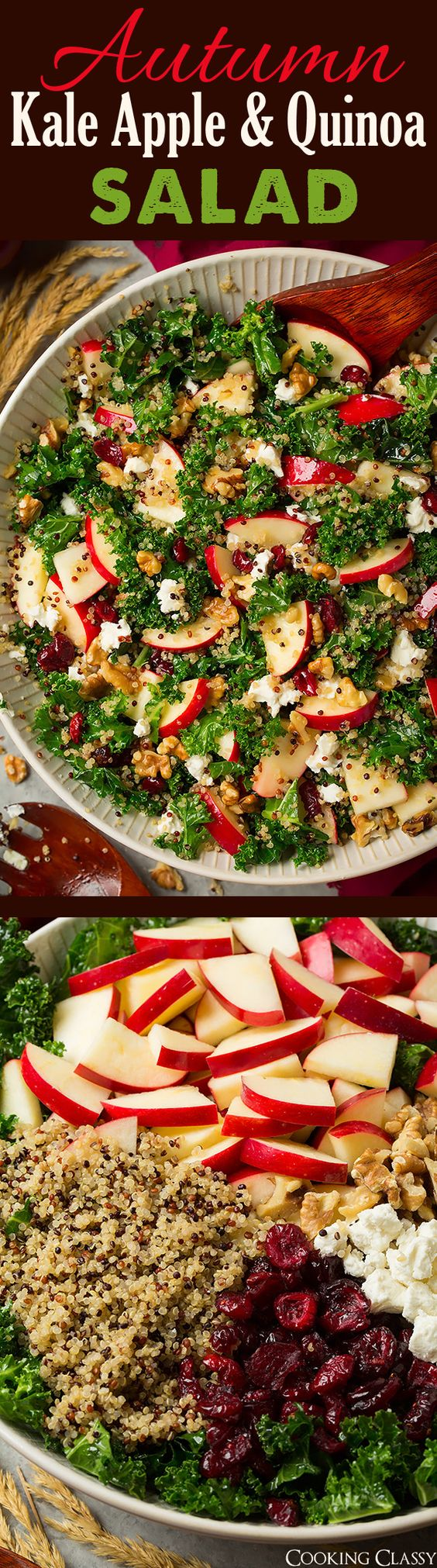 Autumn Kale Apple and Quinoa Salad.