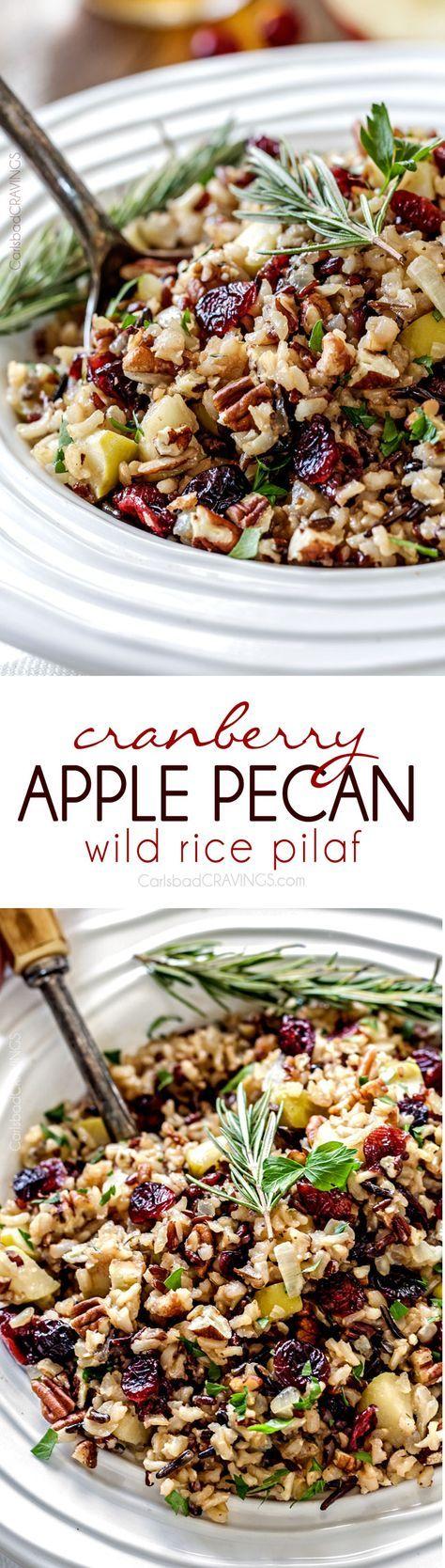Cranberry Apple Pecan Wild Rice Pilaf.