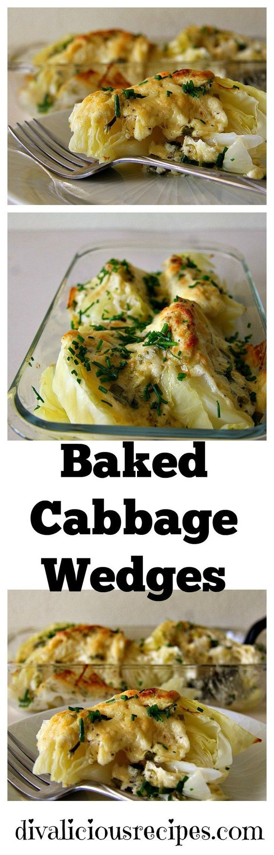Baked Cabbage Wedges.
