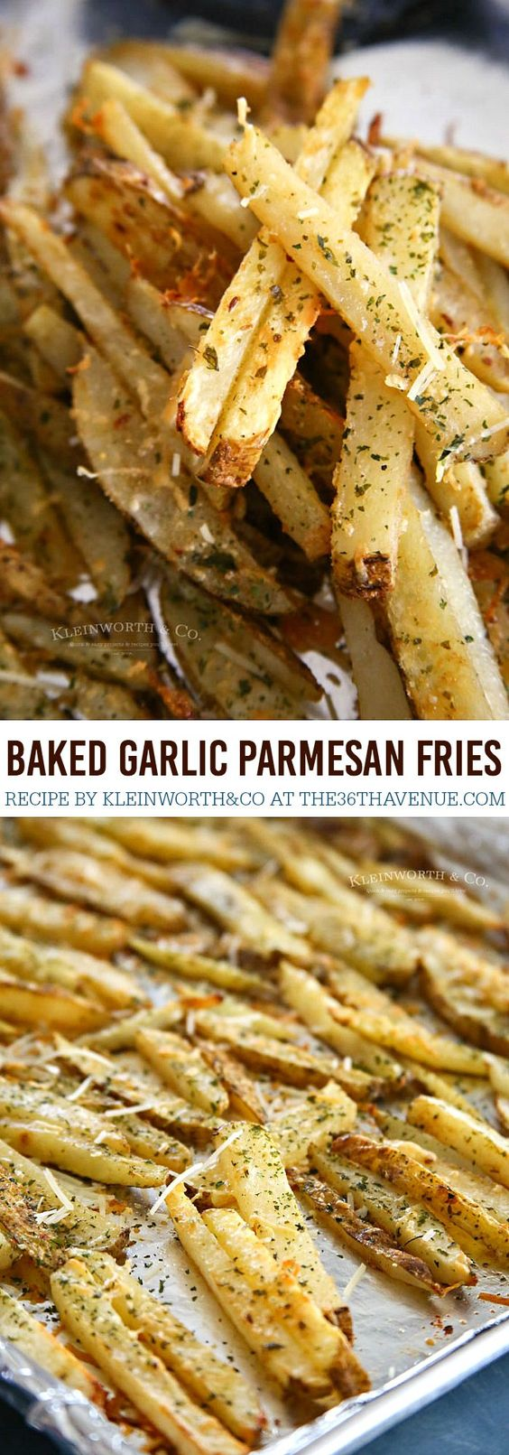 Baked Garlic Parmesan Steak Fries.