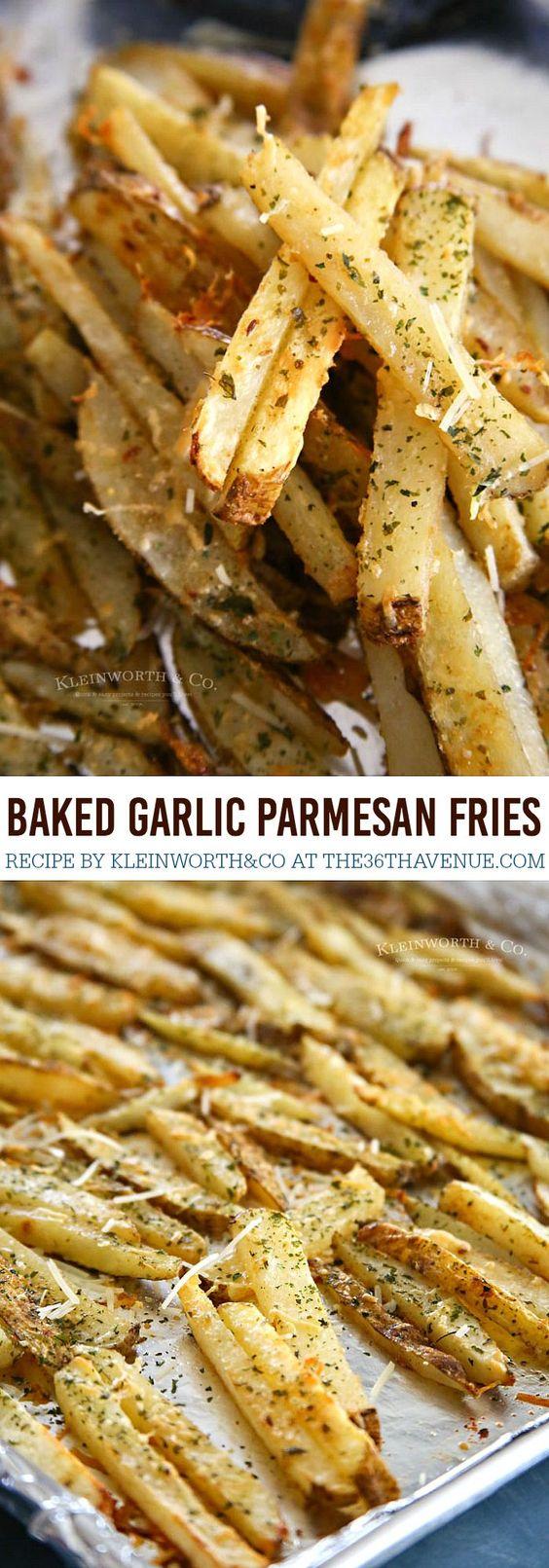 Baked Garlic Parmesan Steak Fries.