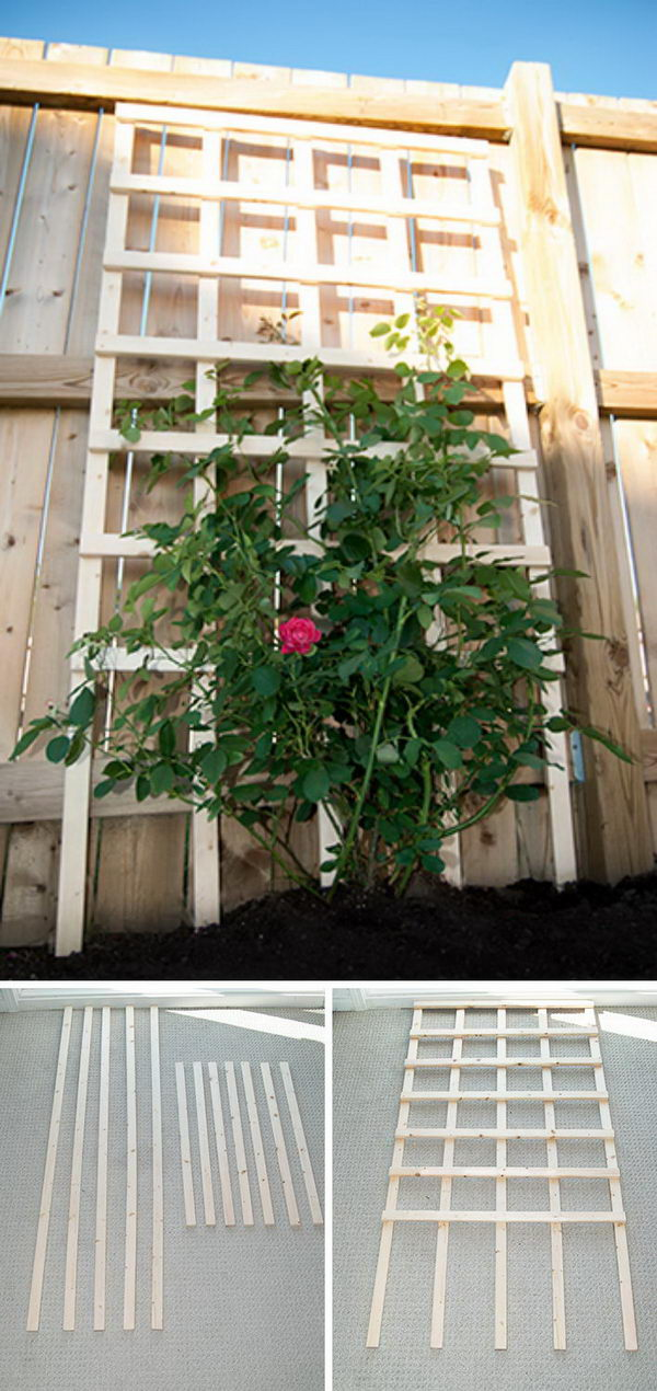 Trellis Ideas For Gardens 30 diy trellis ideas for your garden 2017 6 diy garden trellis workwithnaturefo