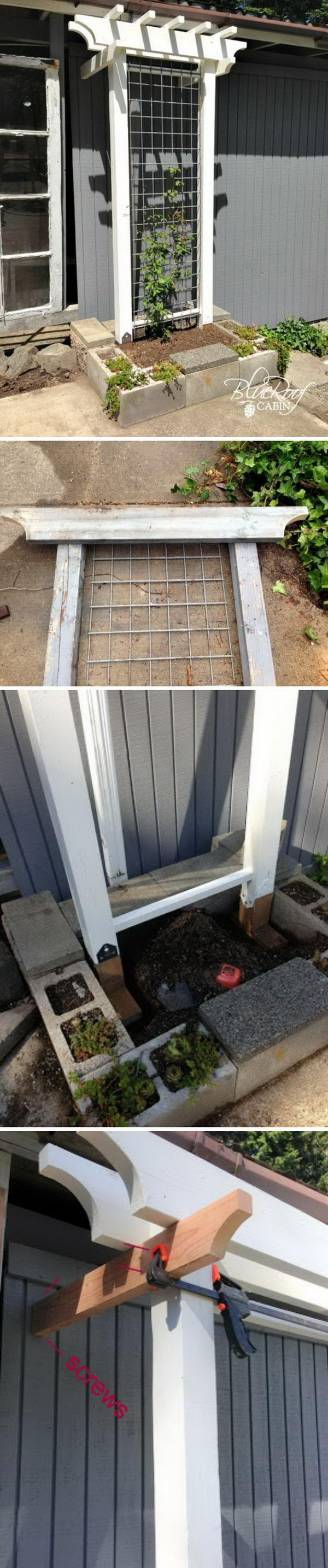 Awesome DIY Garden Trellis
