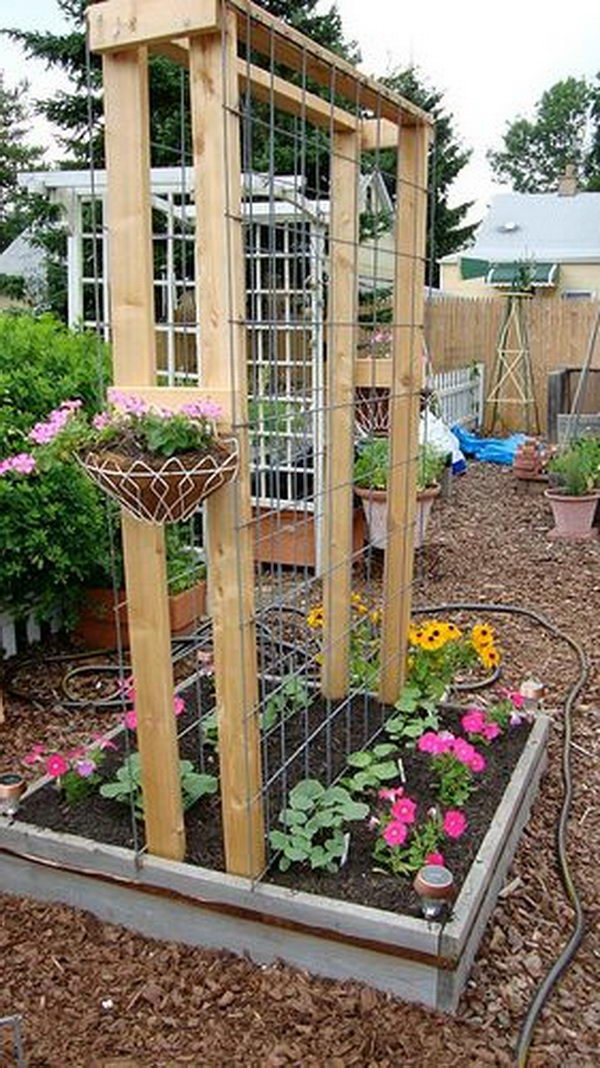 Trellis Garden Ideas 30 diy trellis ideas for your garden 2017 diy cattle panel arch trellis workwithnaturefo