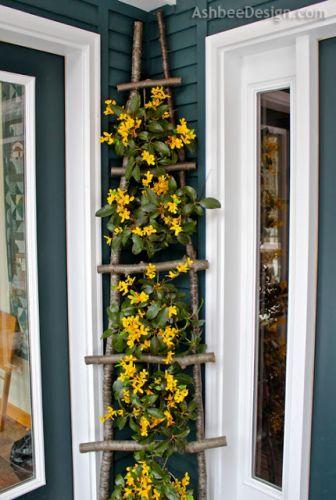 30 diy trellis ideas for your garden 2017 diy twig ladder for trellis solutioingenieria Image collections