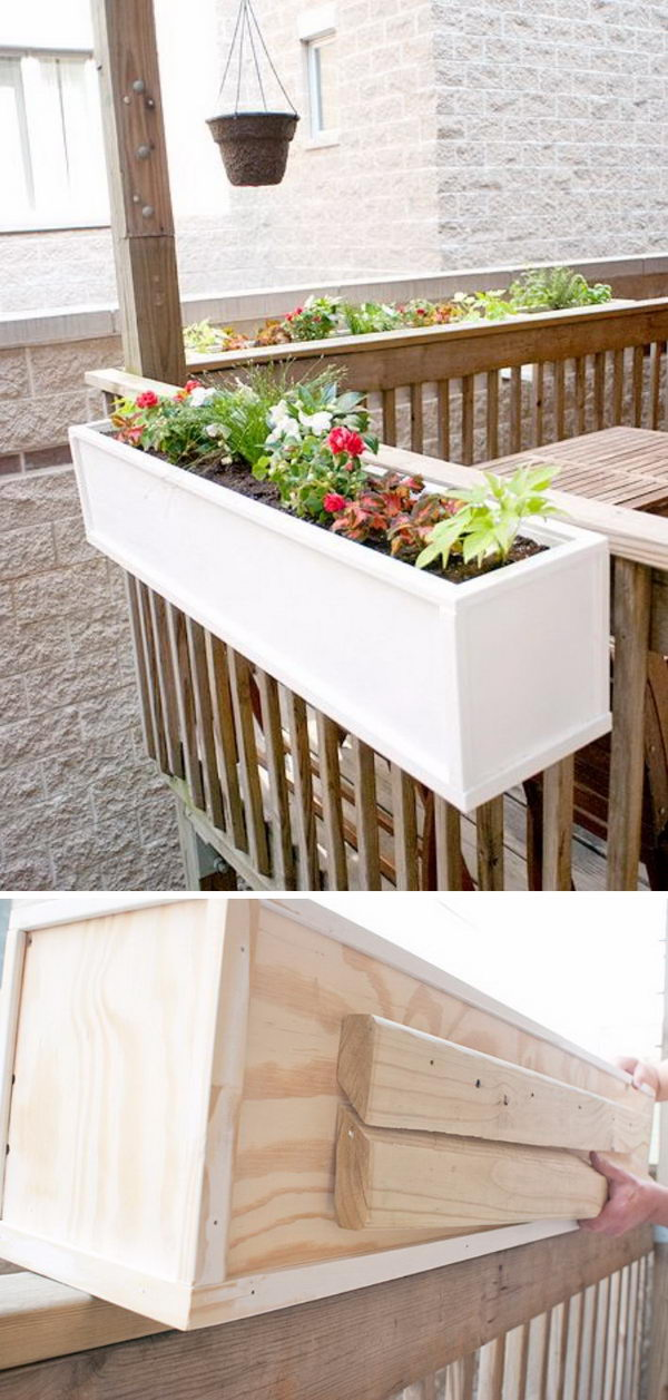 DIY Deck Planter Box.