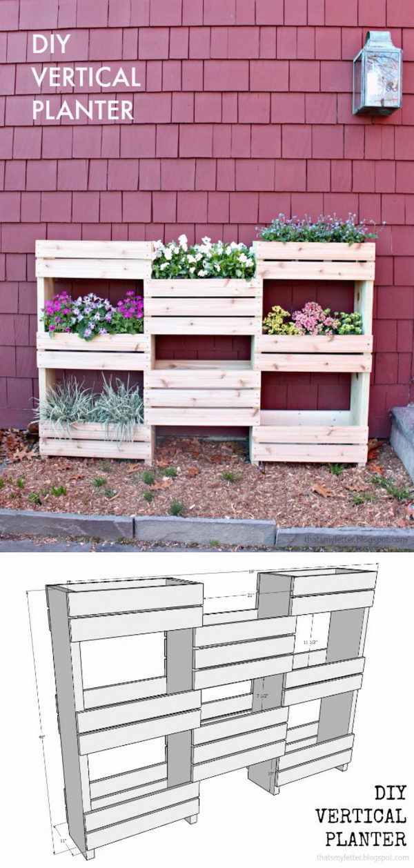 DIY Vertical Planter Box.