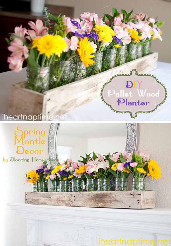 DIY Pallet Wood Planter Box.