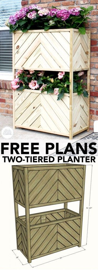 DIY Vertical Two Tiered Planter.