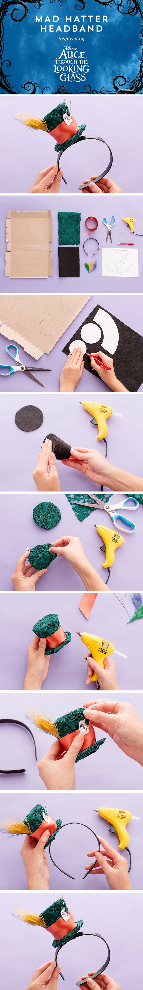 DIY Mad Hatter Headband.