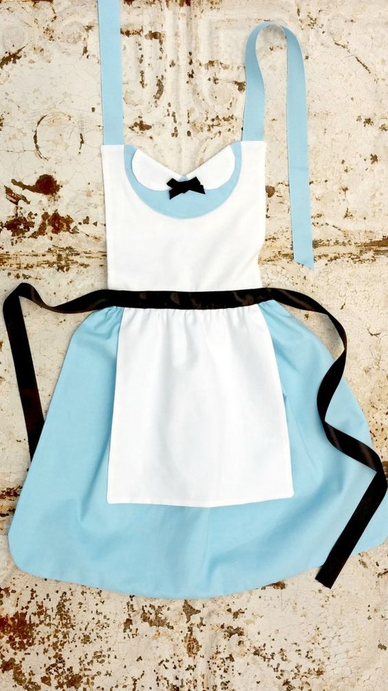 Alice in Wonderland Apron Sewing Pattern.