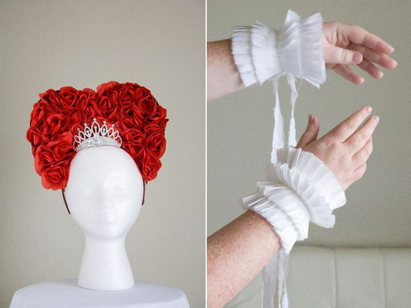 Queen of Hearts Headpiece and Pleated Cuffs.