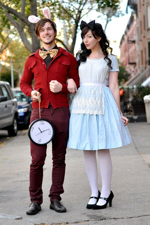 White Rabbit & Alice in Wonderland Costume.