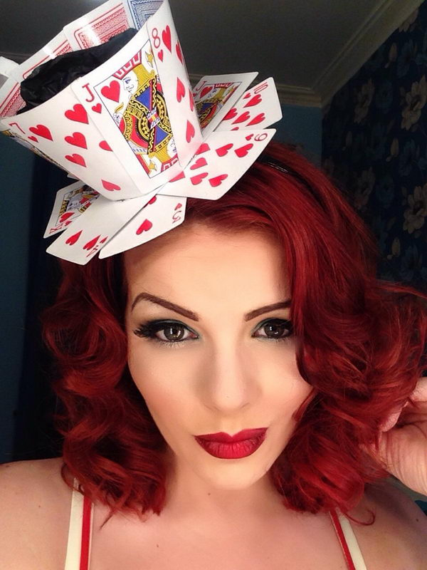 Queen of Hearts Teacup Fascinator from Playing Cards.
