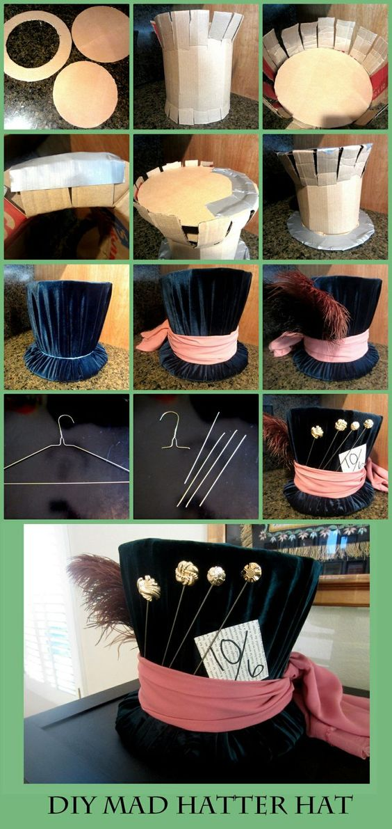 DIY Mad Hatter Top Hat.