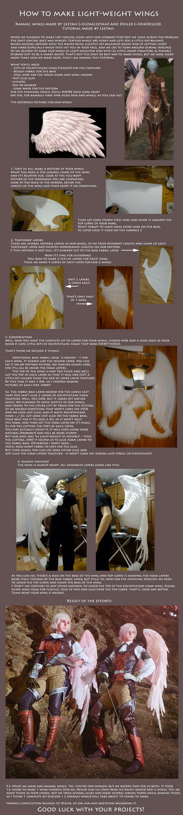 Light Weight Angel Wings Costume.