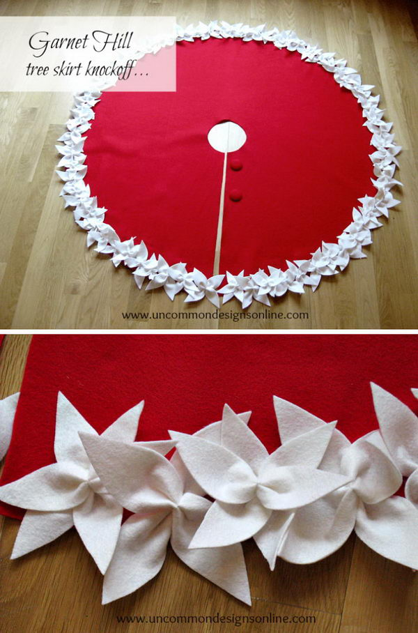 Easy Felt FLower Tree Skirt.