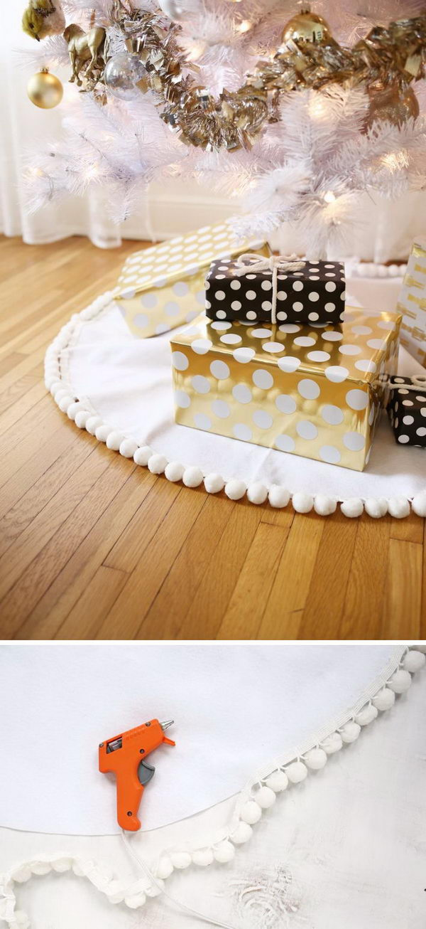 DIY Pompom Tree Skirt.