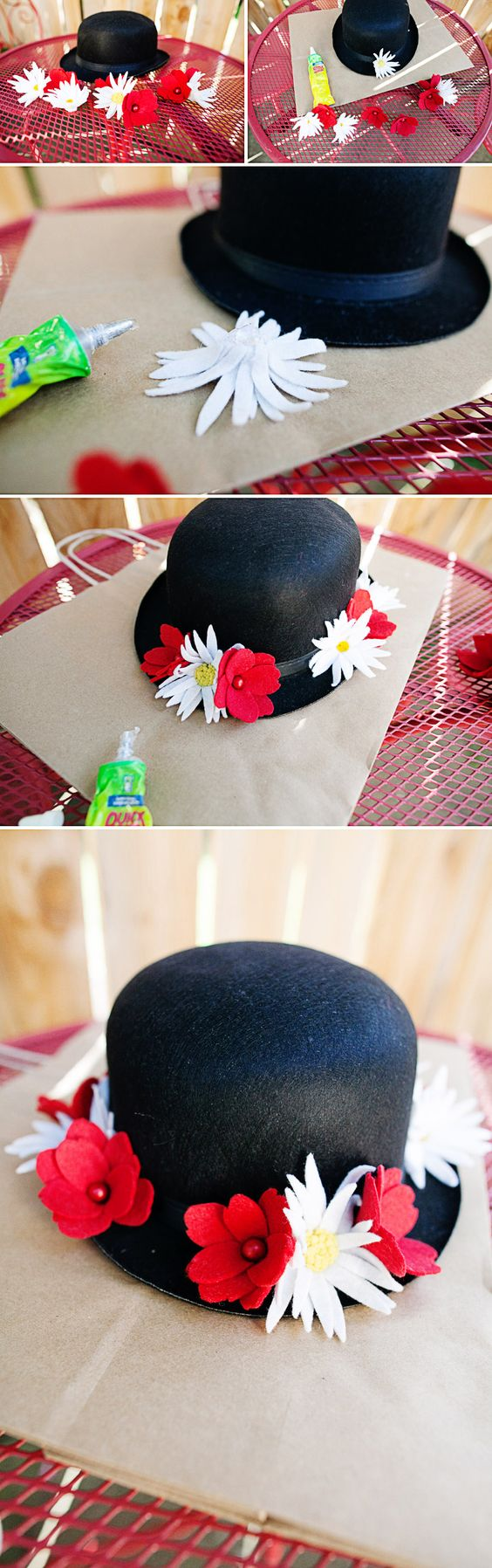 DIY Mary Poppins Hat Tutorial.