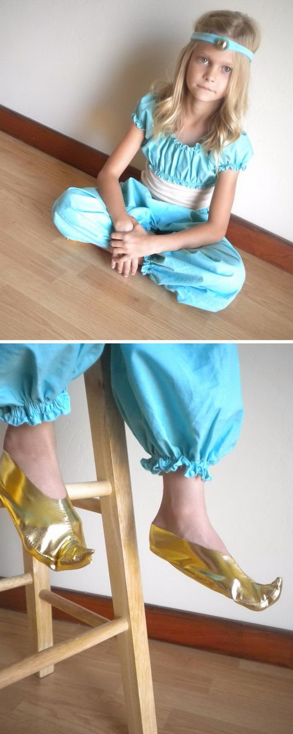 DIY Princess Jasmine Costume Tutorial.