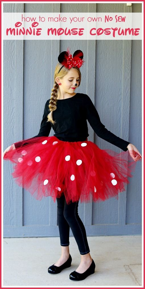 DIY Minnie Mouse Costume.