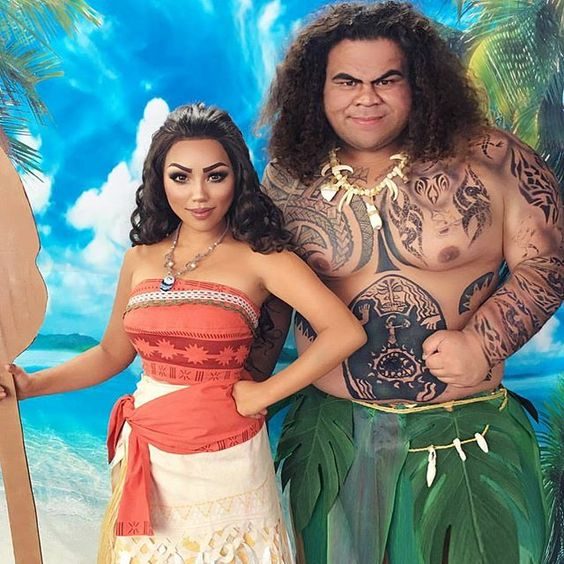 Moana and Maui Costume.