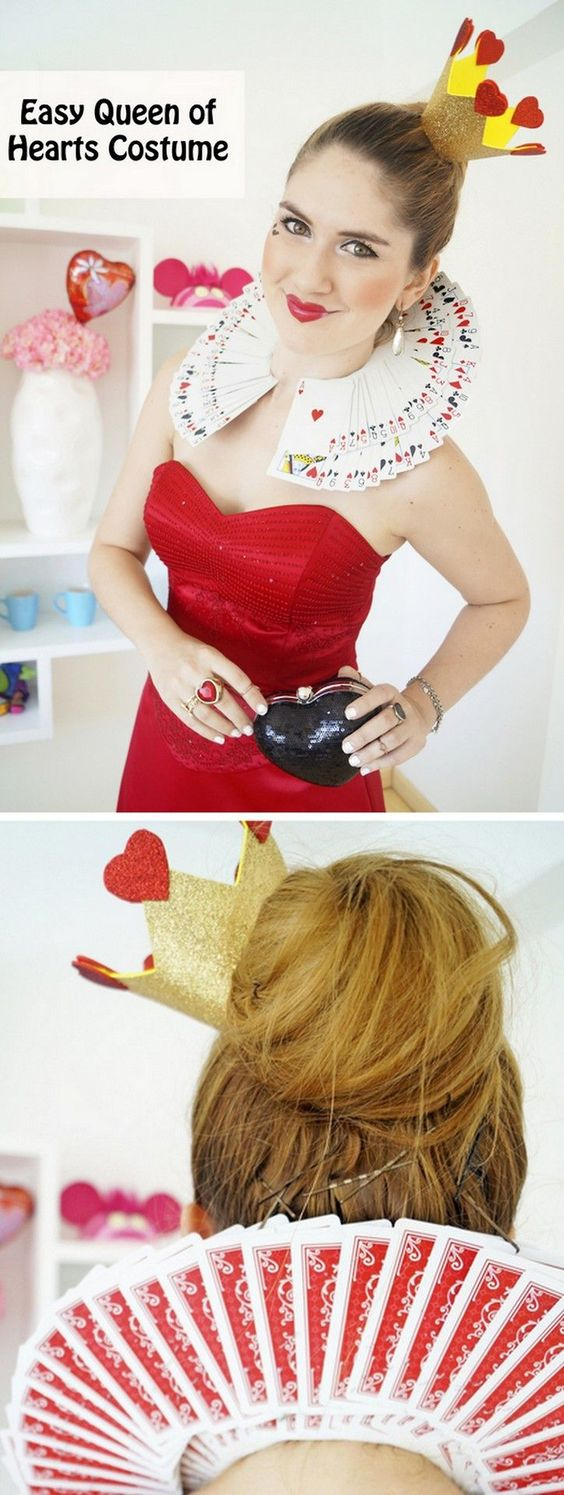 Easy Queen of Hearts Costume.
