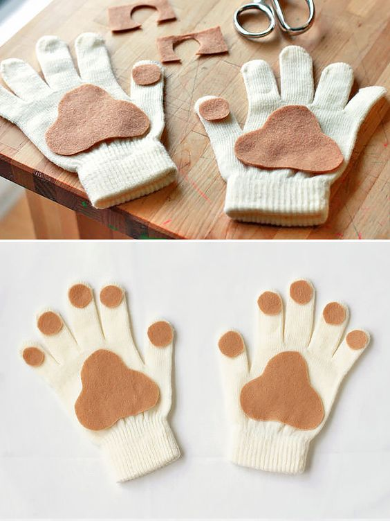 Puppy Paw Gloves.