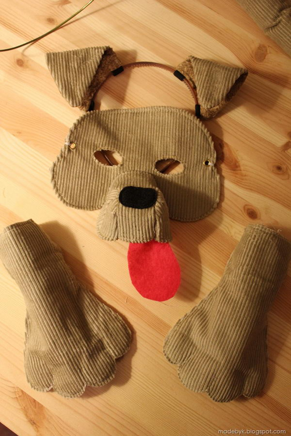 DIY Dog Mask.