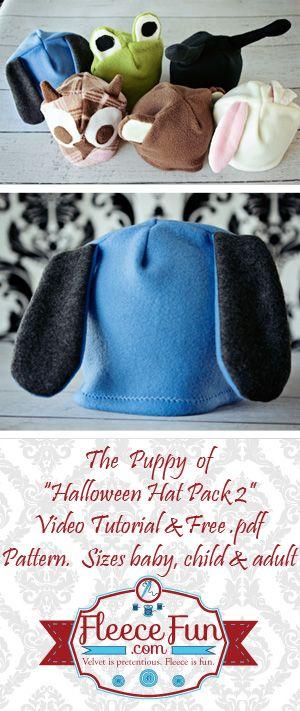 Free Fleece Dog Hat Pattern.