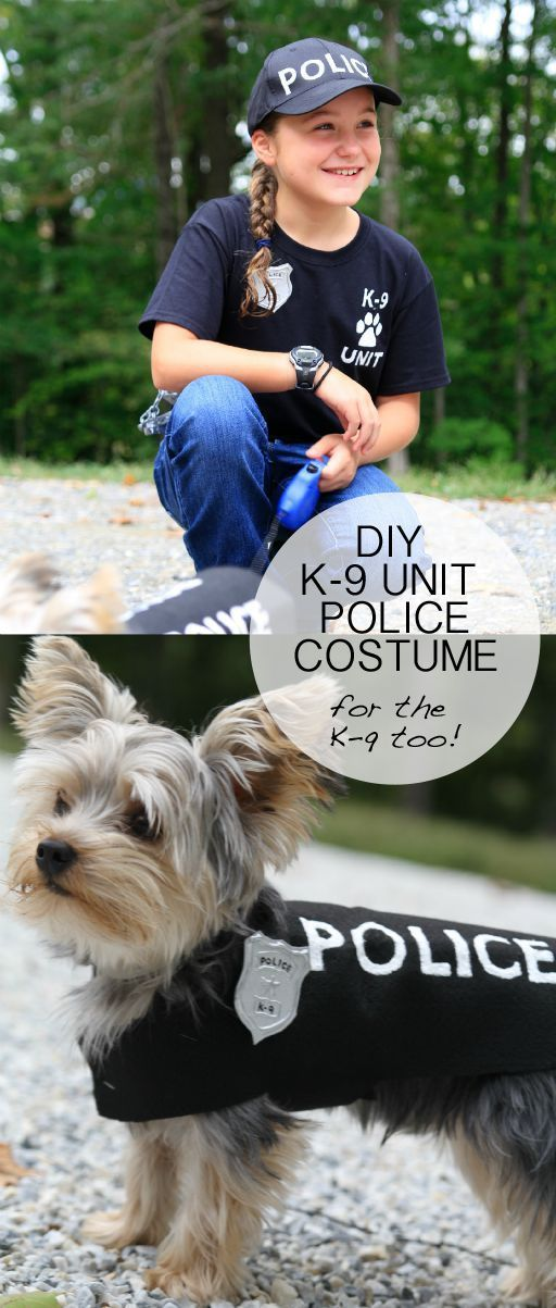 Police Dog Costume for Halloween.