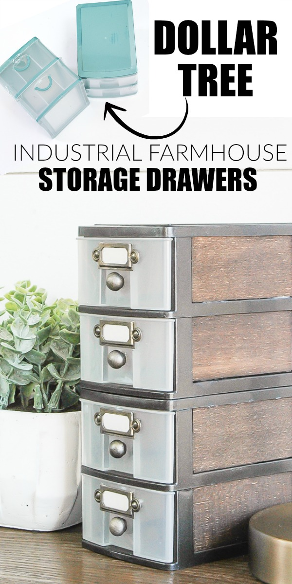 Industrial Farmhouse Storage Drawers.