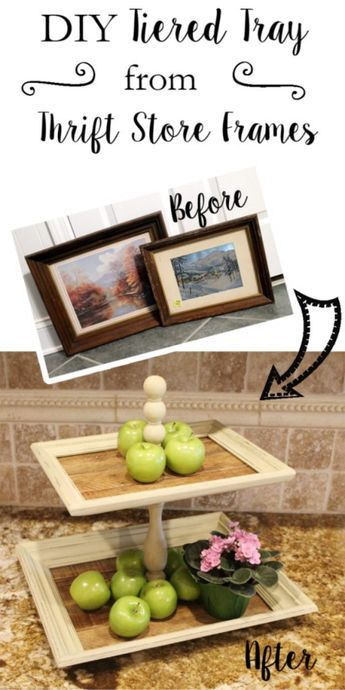 DIY Tiered Trays From Thrift Store Frames.
