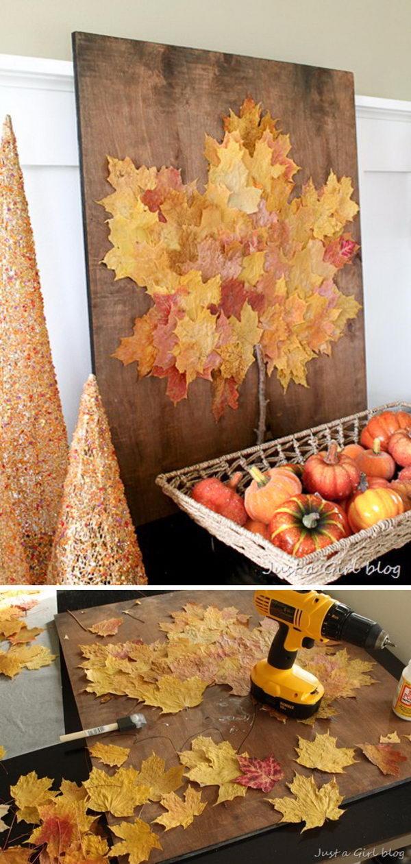 DIY Fall Leaf Art.