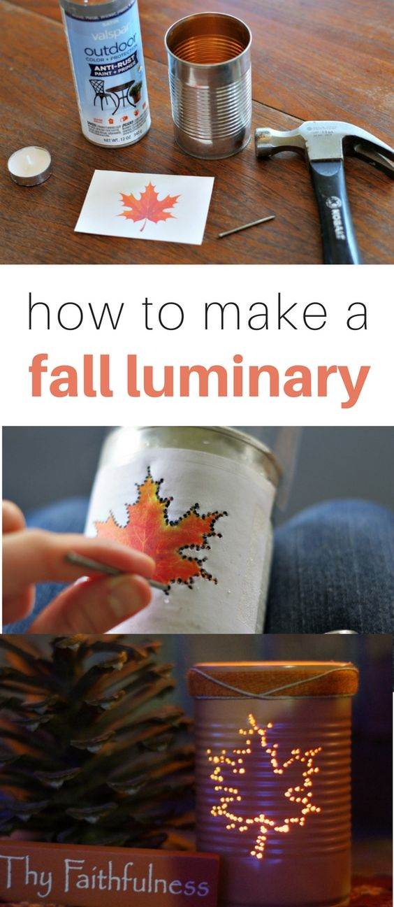 DIY Fall Craft Luminary.