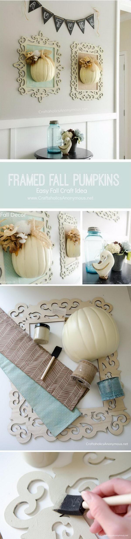 Framed Fall Pumpkins Wall Art.