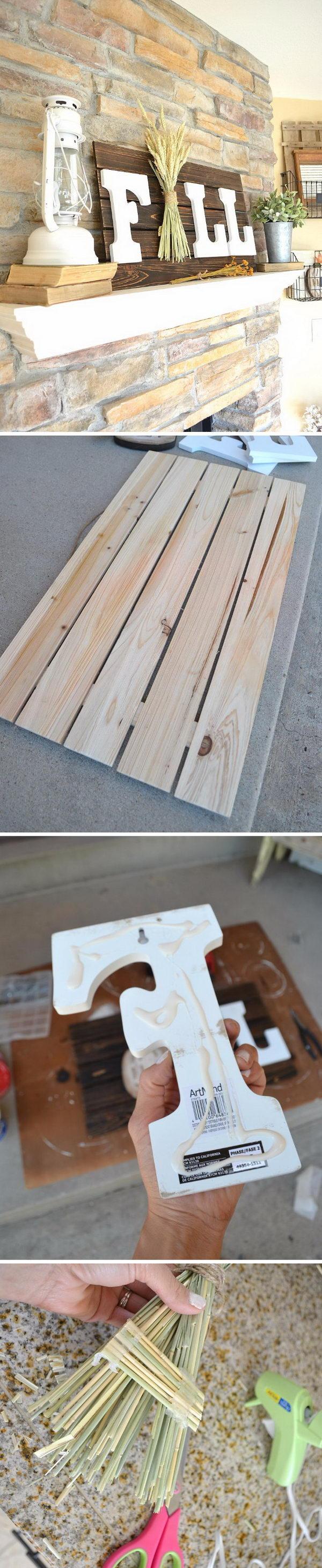 Easy DIY Fall Sign.