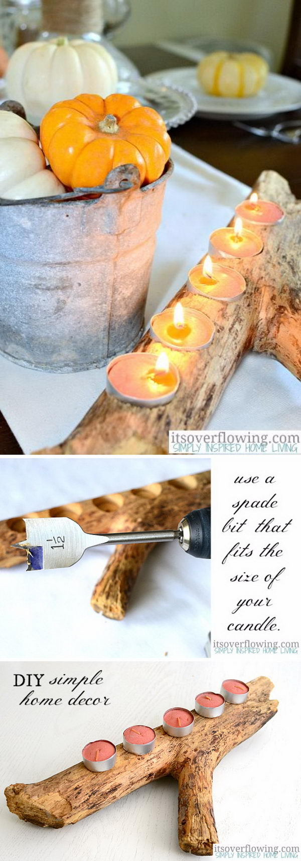 Simple DIY Candle Holders.