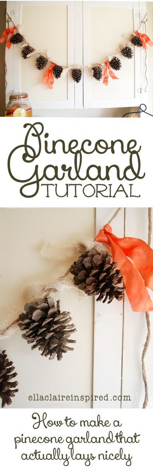 Cute and Simple DIY Pinecone Garland.