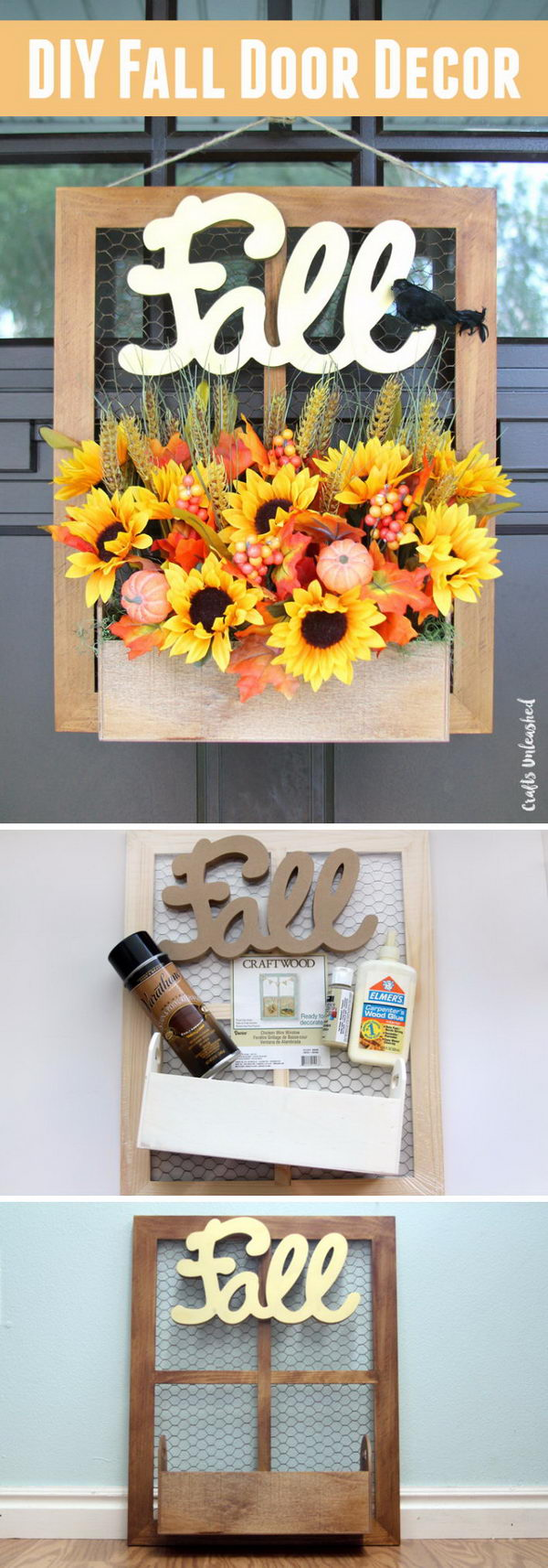 DIY Fall Planter Box Door Hanger.