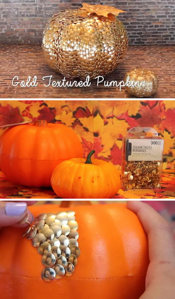 DIY Thumb Tack Pumpkin.