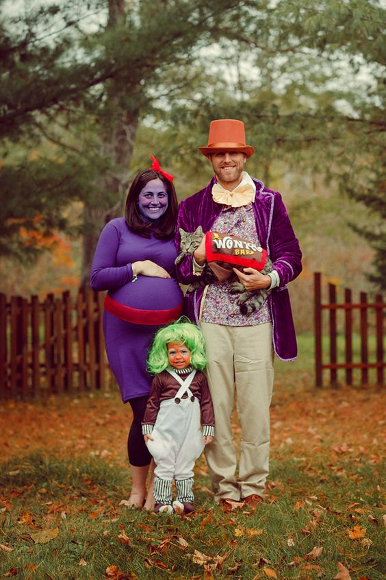 Willy Wonka Family Costumes.