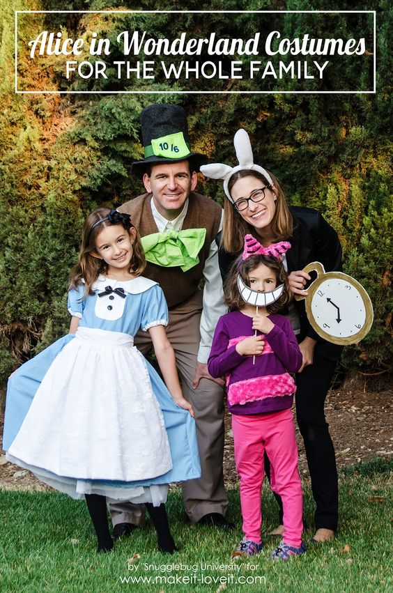 Alice In Wonderland Family Costumes.