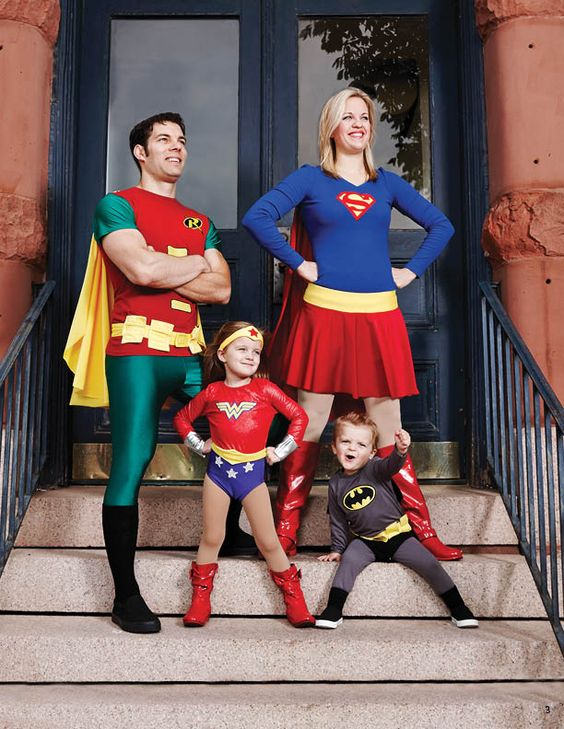 Family Superhero Costumes.