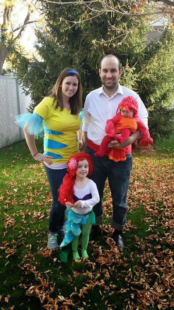 Little Mermaid Family Costumes.