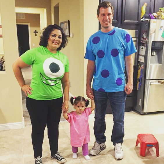 Monsters Inc Family Costumes.