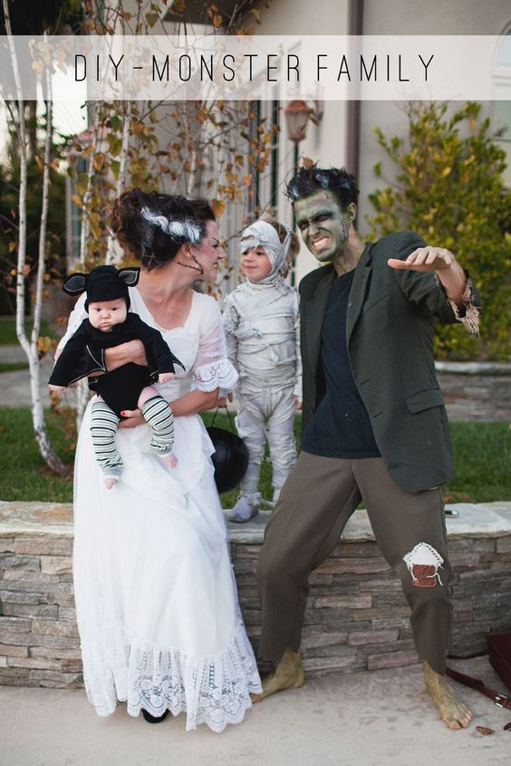 Family Monster Costumes.