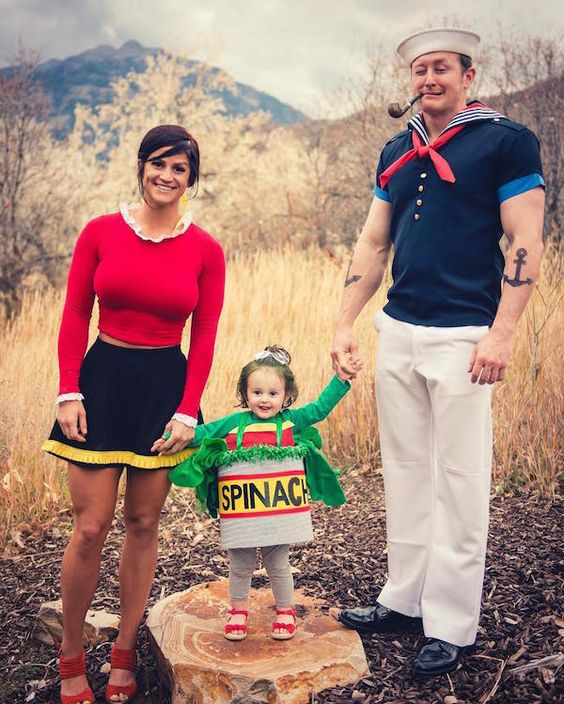Popeye Family Costume.
